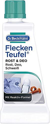 Dr. Beckmann Fleckenteufel Rost & Deo, Spezialfleckentferner gegen Rost-, Deo- und Schweiß-Flecken (50 ml)