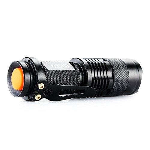 Ebilun 300 lumens Mini Portable Zoomable lumière rouge lampe de poche LED tactile 3 modes,