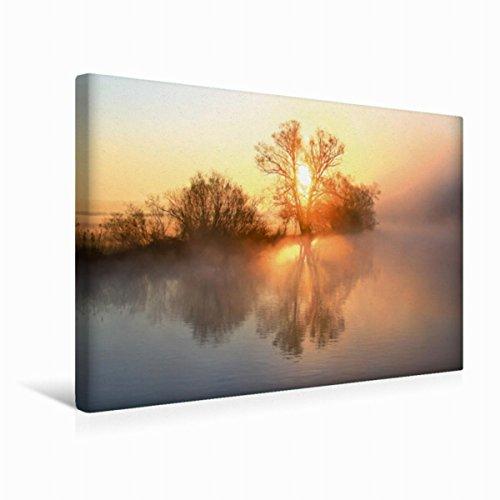 Premium Textil lienzo 45 cm x 30 cm horizontal, un motivo del calendario místico Momentos – Neblina en el reloj de pared cuadro sobre luz y colores suaves (CALVENDO Natur);CALVENDO Naturaleza