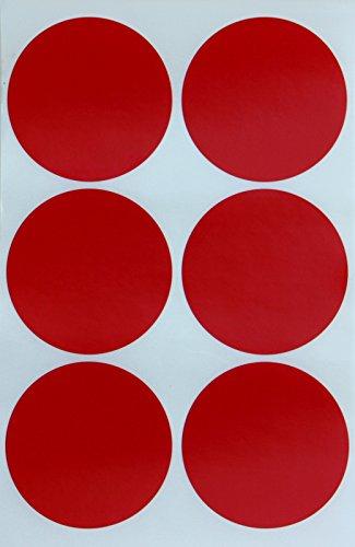 Sticker Rot 50 mm runde Punkt Aufkleber – in verschiedenen Farben Größe 5 cm Sticker 72 von Royal Green