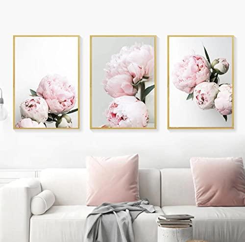 Cuadro sobre Lienzo Imagen Flor de peonía Lienzo decorativo para pared decoración...