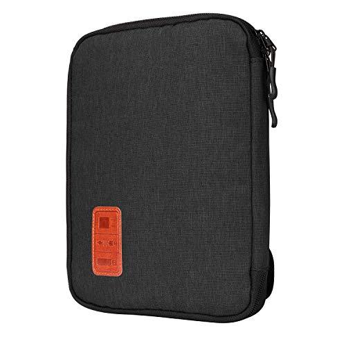 Jamber universal travel Kabel Organizer Tasche elektronische Accessoires tragen Fall karton mit 5 x kabelbinder,Schwarz