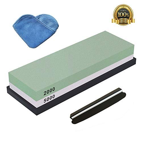 Doppelseitiger Messer Schleifstein 1000//4000 Körnung Wetzstein Silikon Halter DE