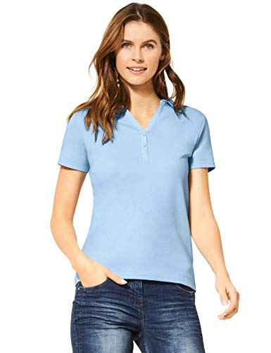 Cecil Damen 313339 Polo T-Shirt, Forever Blue, Medium