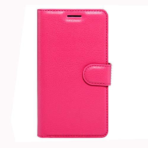 RONGCHAO Tasche für Mobiltelefon Für Wiko K Kool und Jerry Litchi Texture Horizontal Flip Leder Tasche mit Magnetschnalle und Kartenhalter und Kartenhalter (Schwarz) Shell Cover (Farbe : Magenta)