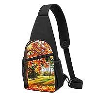 秋の木 ボディバッグ ワンショルダーバッグ 斜めがけバッグ ショルダーバッグ ポーチ付き オシャレ メンズ レディース