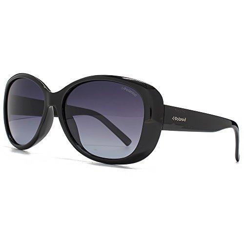 Gafas de sol Polaroid para mujer PLD 4014/S, rectangulares Gradient Grey Polarised 57