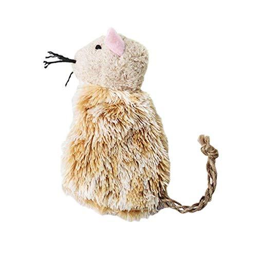 cyberjotting Katzenmäuse Spielzeug Plüsch Katzenspielzeug Interaktive Tiermausform Katzenminze Katze Spielt Mahlen Kauspielzeug Für Katzen (Herbal Sticky Mouse)