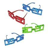Toyvian 4 pezzi 2020 LED Occhiali di Capodanno Occhiali da Vista Illuminano Occhiali da Sole Novità Photo Booth Puntelli per 2020 Festa di Capodanno Natale Decori