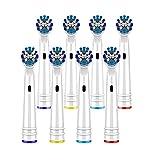Cabezales cepillo de repuesto para cepillo de dientes Oral-B,Precision Clean compatible con cepillo de dientes eléctrico Oral B Braun (pack of 8)
