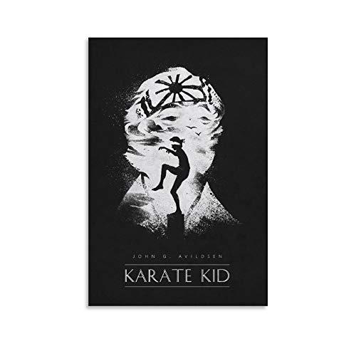 """Klassisches Filmposter """"The Karate Kid"""", Vintage-Stil, Leinwand, Wanddekoration, Kunstdruck, für Büro, Wohnzimmer, Schlafsäle, Häuser – Geschenke für den Freund, Mann, 30 x 45 cm"""