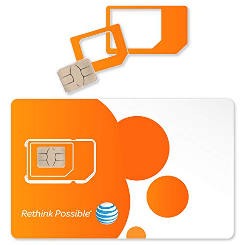 2-PK AT&T Triple Cut 4G LTE Sim Card New Unactivate, in One (3-in-1)