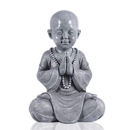 WGGTX Ornamento Escultura de Buda Sentado Césped Meditar