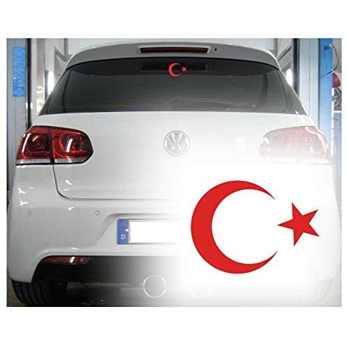 alternatif - Autoaufkleber Ay Yildiz Bayrak Osmanli Türkiye Istanbul Tugra Türkei AY YILDIZ (Weiss)
