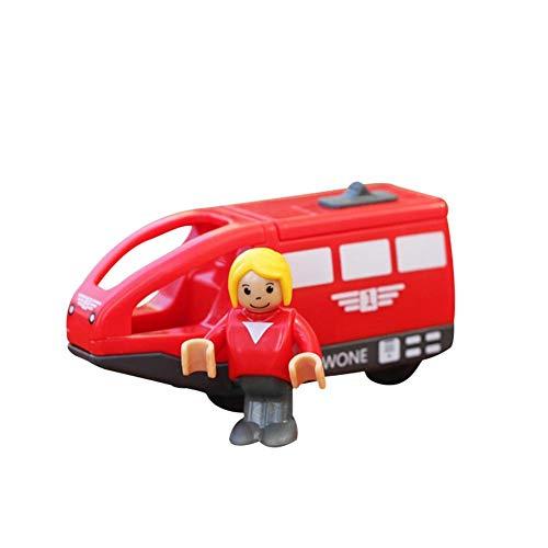 Zug Lokomotive Spielzeug, Kinder Holzschiene für Kinder elektrische magnetische Zug Spielzeug Lokomotive Spielzeug