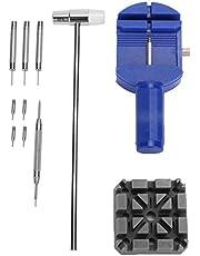 Cinturino per orologio Regolatori per cinturino Strumenti Kit di strumenti per riparazione orologio da 11 pezzi Rimozione dei cinturini dell'orologio Sostituzione dell'orologio Acciaio