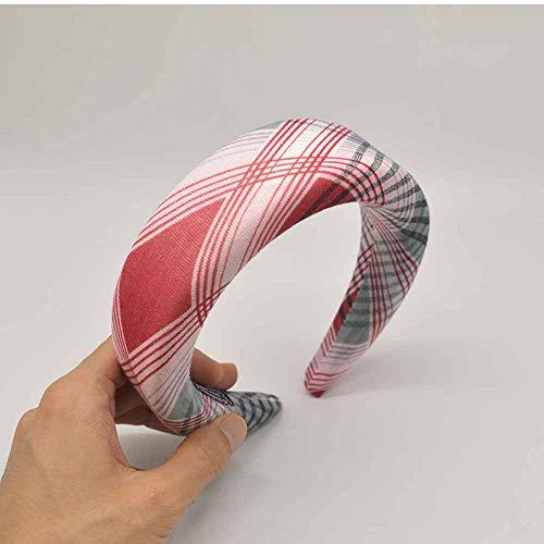 Hlnaughty New Thicken Stirnbänder Frauen Mode Geometrischer Druck Breites Haarband Stil Mädchen Haarschmuck Haar Reifen Großhandel-Rot