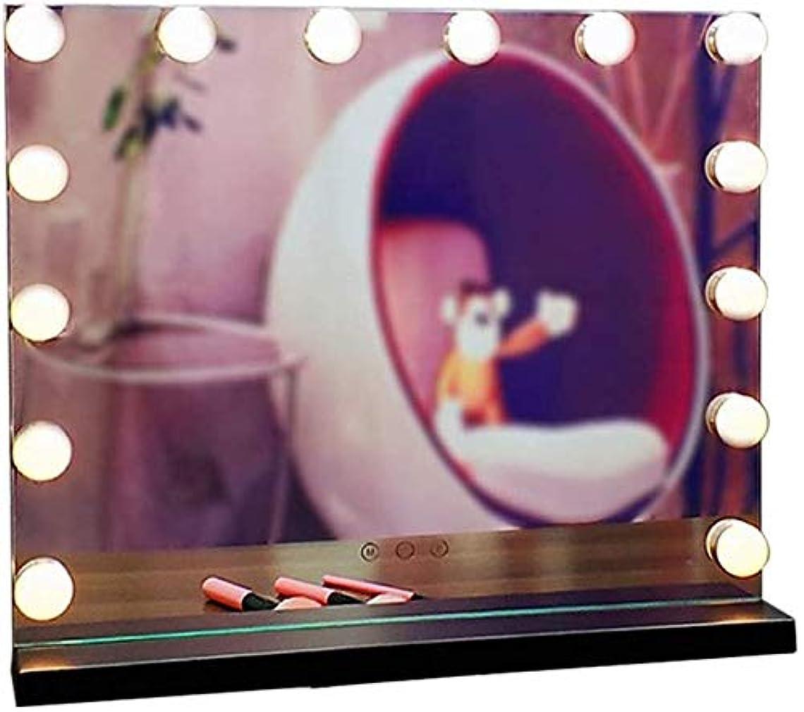 法的黙認する申請者ZS 家庭用品& 調光電球のLEDバニティミラーライトキット、ハリウッドスタイル14調光可能な電球メイクバニティ3色(カラー:ブラック、サイズ:30 * 42センチメートル)について (Color : A Black, Size : 50*42cm)