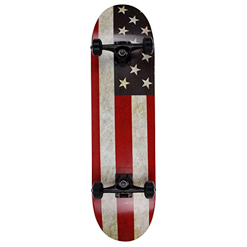 Pro Skateboard Complete 31 Inch 7 Layer Canadian Maple Double Kick Concave Deck Skating Skateboard