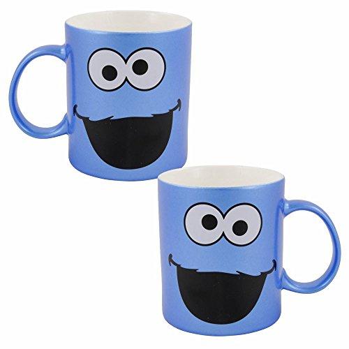 Sesamstraße Krümelmonster Keramik Tasse Blau | 300 ml | Henkel-Becher