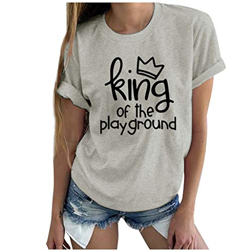 Great Deal! Coupondeal Fashion Women Casual Short Sleeve Letter Printed O-Neck Tops Tee T-Shirt Blou...