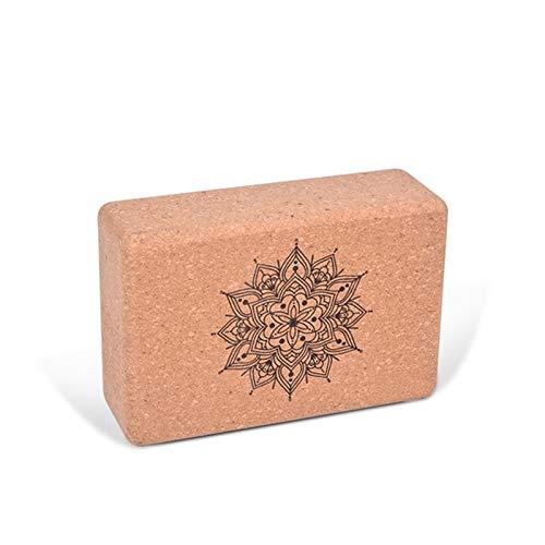 U/D Ladrillo de yoga de alta densidad ladrillo de corcho octogonal ladrillo de corcho natural para pilates, fitness y deportes-yoga ladrillo está hecho de corcho 100% natural ((((((()A)