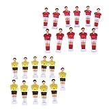 Baoblaze 22 Piezas de Muñecas de Reemplazo de Futbolín de Mesa Football Men Rojo y Amarillo Hecho de Material Plástico Duro