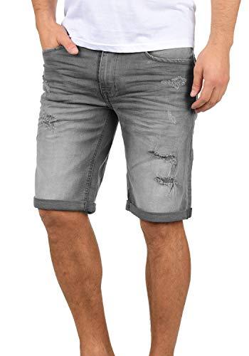 Blend Deniz Pantalón Corto Vaqueros para Hombre Elástico Regular-Fit, tamaño:M, Color:Denim Grey (76205)