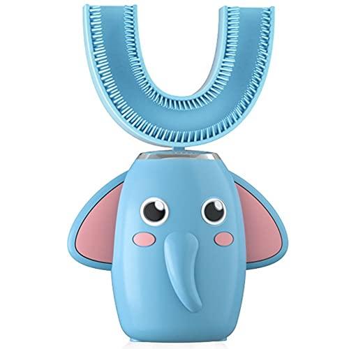 #N/D Cepillos de dientes eléctricos 3 grados en forma de U para niños Cepillo de dientes eléctrico IPX7 impermeable cepillo de limpieza de dientes para niño