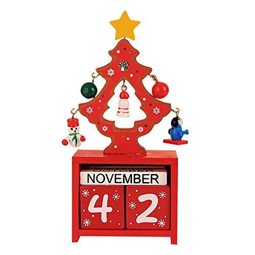 Navidad Calendario de Adviento Navidad Madera Santa Cuenta atrás Calendario Adornos de Navidad Adornos Decoración
