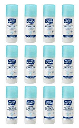 Lot de 12 déodorants neutres Roserts - Stick extra frais 40 ml