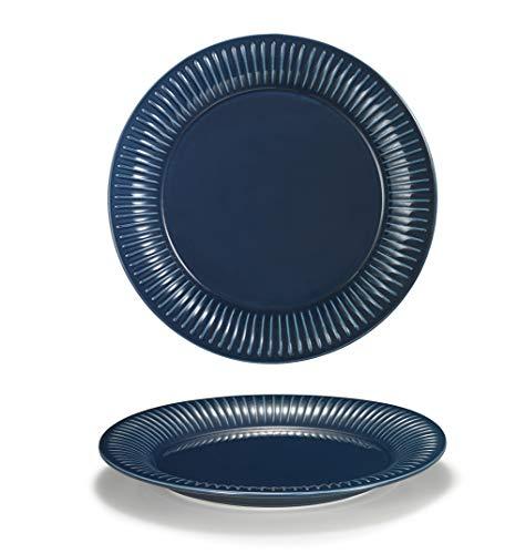 Supremery Juego de 2 platos llanos de cerámica, platos grandes de pizza,...