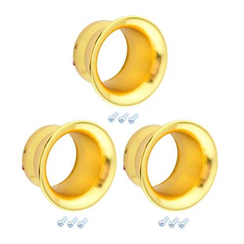 #N/A/a 3X Embudo de Apilamiento de Velocidad Amarillo para Admisión de Carburador PWK24 PWK26 PWK28 PWK30