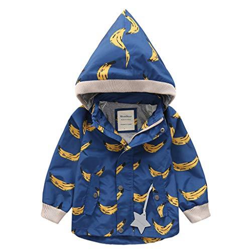 HDUFGJ Kinder Kids Softshell Jacke Jacket Plus Samt Mit Kapuze Übergangsjacke Steppjacke Wasserfeste Winddicht Mantel Windbreaker Outdoor Zip Hoodie Regenjacke Freizeit 140(Blau)