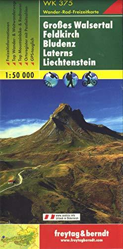 WK 375, Großes Walsertal - Feldkirch - Bludenz - Laterns - Liechtenstein, Wanderkarte 1:50 000, freytag & berndt Wander-Rad-Freizeitkarten