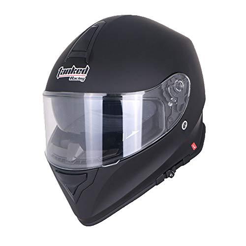 EDW para Adultos Casco para Motocicleta ATV MX Dual Sport Dirt Bike Cascos para Motocicleta Racing Scrambler Scooter De Motocicleta Sombrero Duro Flip Up Visor Doble,XXL(61~62cm)