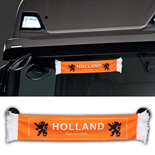 TRUCK DUCK® LKW Auto Holland Niederlande Mini Schal Wimpel Flagge Saugnapf Spiegel Deko 45x8cm