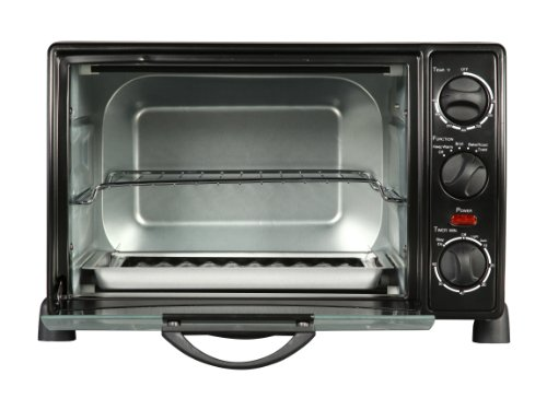 Rosewill RHTO-13001 6 Slice Toaster Oven Broiler with Drip Pan, 0.8 cu ft, Black