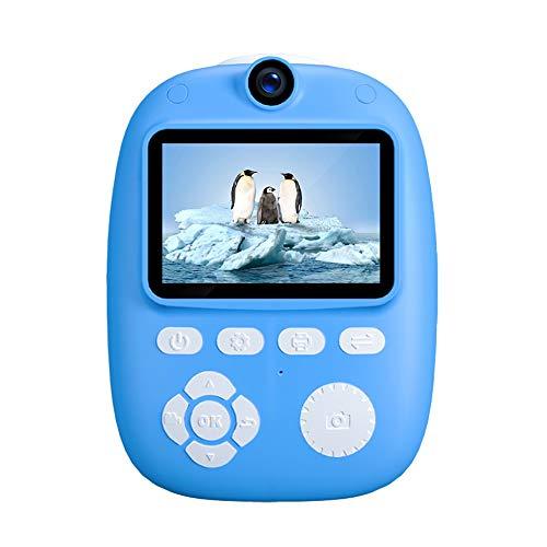 WENFINSP Kinder-Kamera mit 2 Zoll großen Bildschirm Kinder Kamera Wiederaufladbare Kid Action-Kamera-Kleinkind-Video Recorder Drucken for Mädchen Jungen Geschenke (Color : Blau)