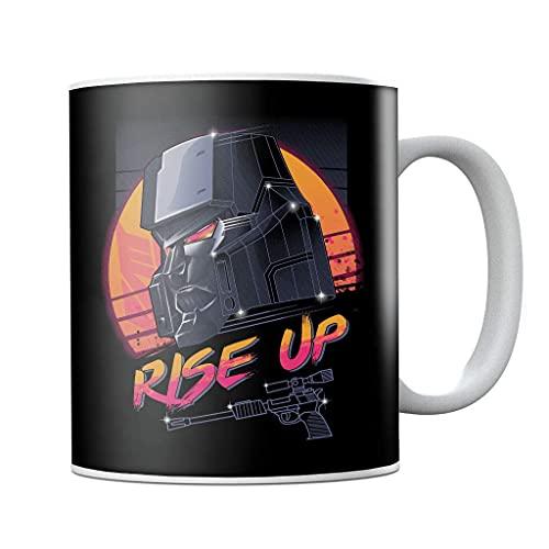Transformers Rad Villain Megatron Retro 80s Taza de café de cerámica taza de té novedad Festival regalo de cumpleaños