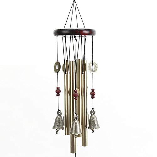 Carillons Éoliens En Écran 4 Tubes Double Antique Nature Bambou Feng Shui Carillon Éolien En Bois Intérieur Extérieur Melody Vent Bell, Jeu Sonore Avec Carillon Éolien, Soulager Le Stress, Détent