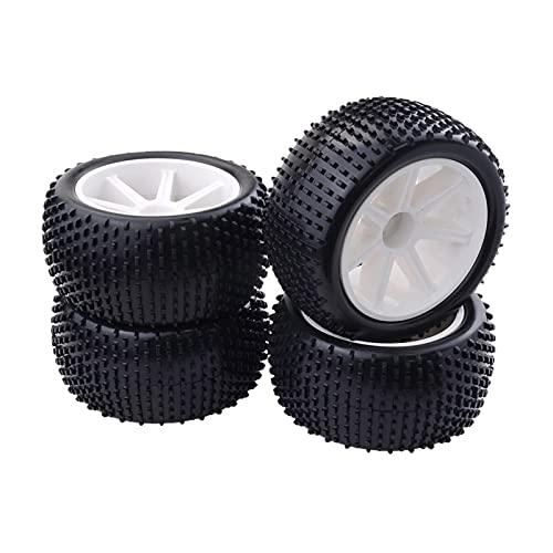UJETML (H) Llantas de Barras Láminas de Rueda de plástico y neumáticos de Las Ruedas de plástico de 4 Piezas de 12 mm para 1:10 RC Buggy Ruedas y neumáticos hexagonales de 17 mm.