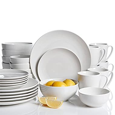 Gibson Home 30 Piece Ogalla Dinnerware Set, White
