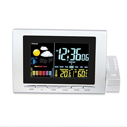Réveil MétéO NuméRique,DXNSPF Thermomètre Intérieur,Appliquer Salon,Chambre,Bureau,étagère
