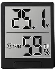 YaLuoUK - Medidor de temperatura y humedad para interiores con pantalla digital, termohidrómetro para control de clima de habitación, habitación de bebé, sala de estar, oficina