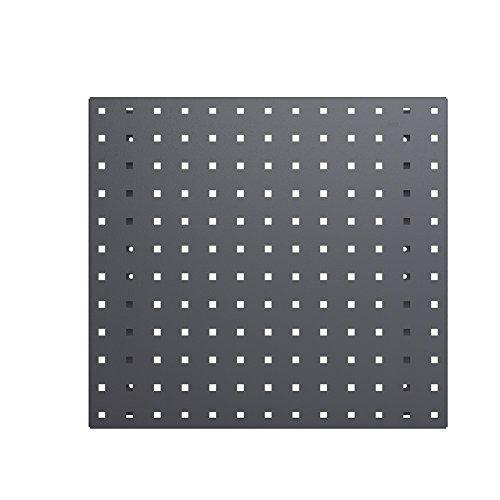Placa perforada gris