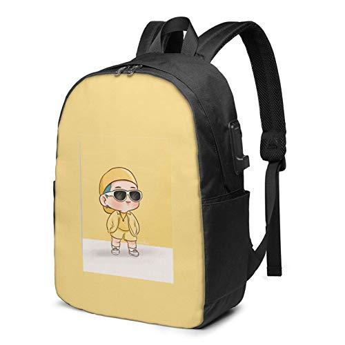 IUBBKI D-Yna-Mi-Te Logo 17 Inch Laptop Backpack For Men & Women,Travel/School Backpack With Usb Charging Port & Headphone Interface
