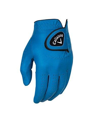 Callaway Golf Men's OptiColor Leather Glove, Blue, Large, Worn on Left Hand