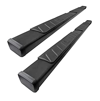 Tyger Auto TG-RS2D40078 RISER For 2009-2018 Dodge Ram 1500  Including 2019-2021 Classic   2010-2021 2500/3500 Crew Cab 4inch Black Side Step Nerf Bars Running Boards