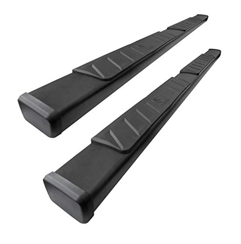 "Tyger Auto TG-RS2C40038 Black Riser 4"" Compatible With 2007-2018 Chevy Silverado/GMC Sierra 1500 & 2007-2019 2500/3500HD Extended/Double Cab Side Step Nerf Bars Running Boards"